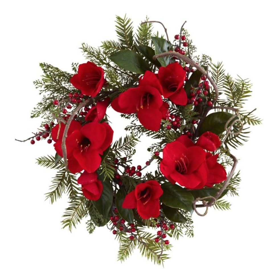 Amaryllis Wreath, $57.99, Houzz